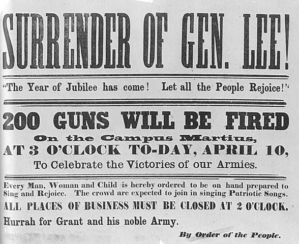 Gen. Lee Surrenders to Gen. Grant at Appomattox Court House