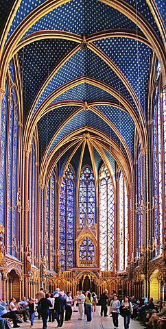 Sainte-Chapelle de París. - Estilo Gótico radiante.