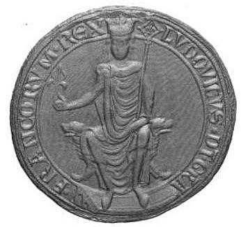 """Luis VIII de Francia. """"El León"""". (1187-1226). - Dinastia Capeta."""