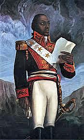 Toussaint L'Ouverture is commander of Saint-Domingue