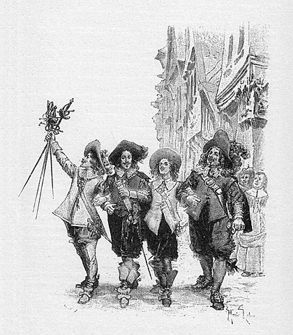 """""""Los tres mosqueteros"""" de Alejandro Dumas."""