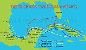 Expedición española a México.