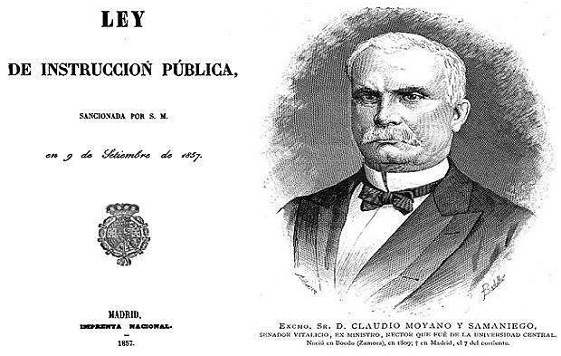 Ley Moyano de Instrucción Pública.