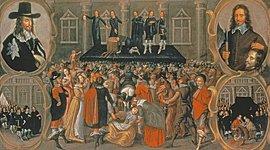 L'Inghilterra divisa tra guerra civile e rivoluzione timeline