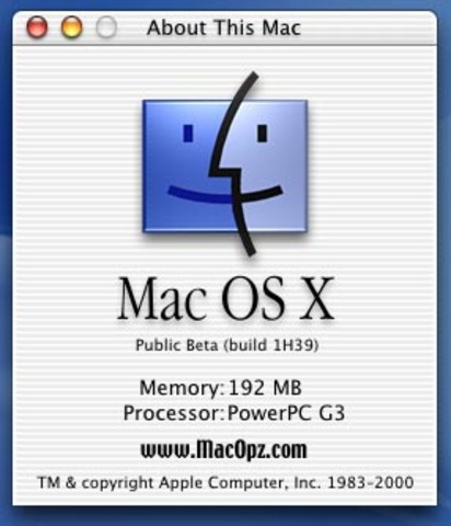 Mac OS X Beta pública