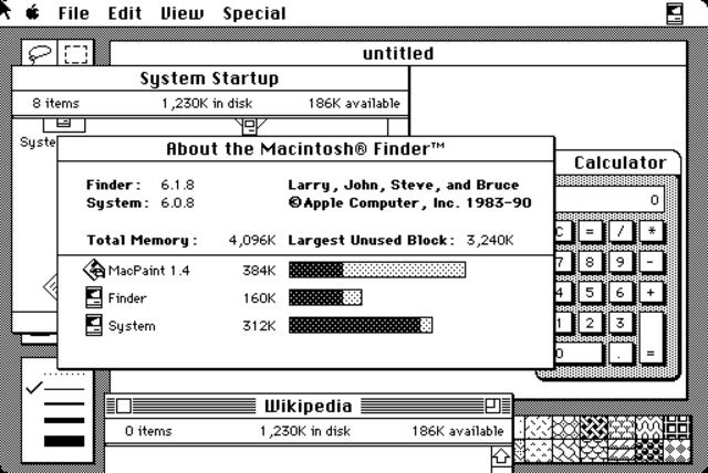 Mac OS system 6