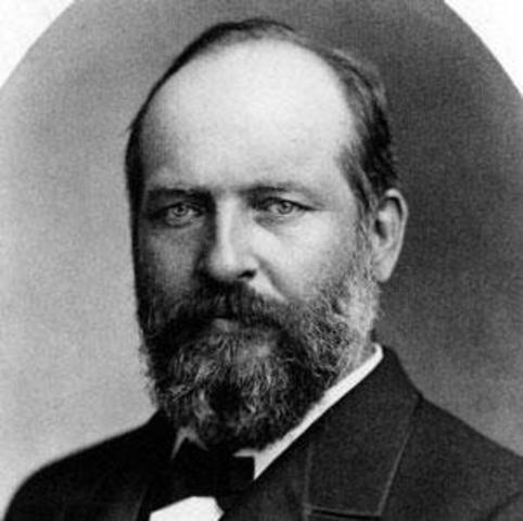 James A. Garfield elected as president