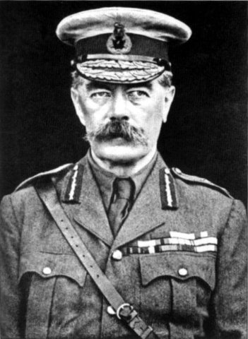 Field Marshal Lord Kitchener, the British Secretary of State for War, asks for American military participation in Europe.