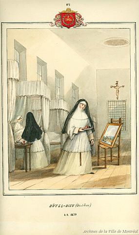 Fondation de l'Hôtel-Dieu de Québec par les Augustines