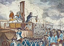Ejecución en la guillotina de Luis XVI.