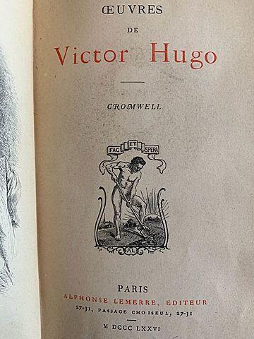 """PUBLICACIÓN DEL PREFACIO """"Cromwell"""" POR VICTOR HUGO"""