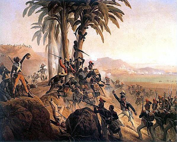 Slave revolt in Santo Domingo (Haiti).