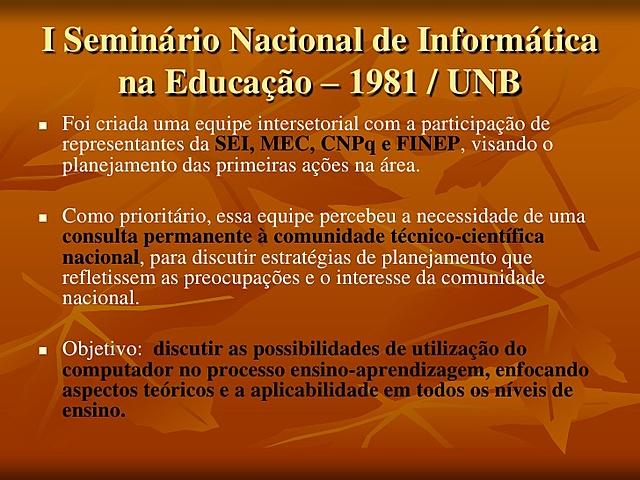 Seminário nacional da informática na educação