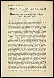 Garrison's First Abolition Speech