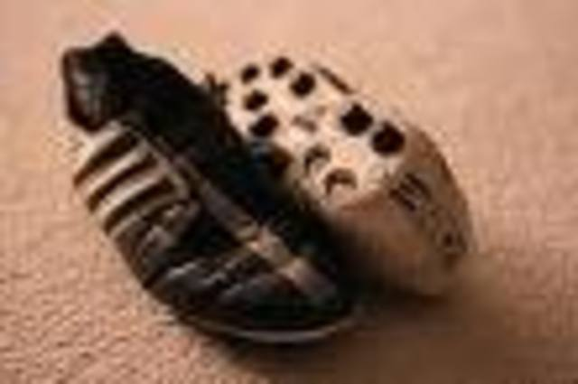 The first pair of cleats