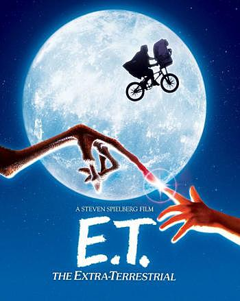 E.T. El extraterrestre de Steven Spielberg.