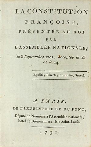 Primera Constitución de Francia