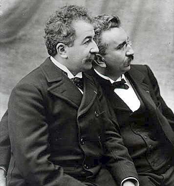 The brothers Auguste and Louis Lumière (1906)