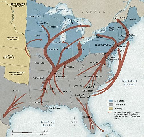 75,000 people escape on the Underground Railroad