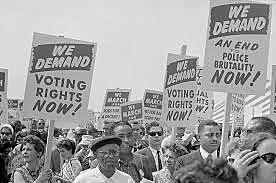 Voting Rights Act makes it easier for African Americans to vote.