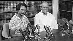 Loving v. Virginia marriage between black and white people is legal.