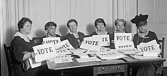 Women earn the right to vote