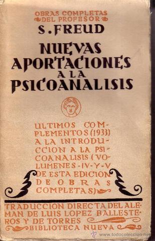 """Publicación de Contribución a la historia al movimiento psicoanalitico"""""""