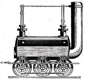 Stephenson's steam locomotive