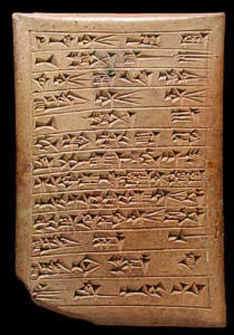Invention of Cuneiform, 3000 B.C.