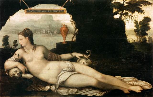"""Eva Prima Pandora de Jean Cousin """"El Viejo"""". (Escualos de Fontainebleau)."""