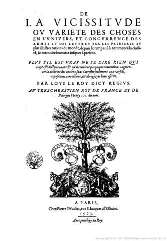 Louis Le Roy. (1510-1577)