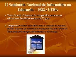 II Seminário Nacional de Informática em Educação