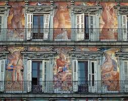 Pinturas de la fachada de la Casa de la Panadería