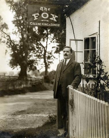 Nathan Gooch, the blind landlord of The Fox, born