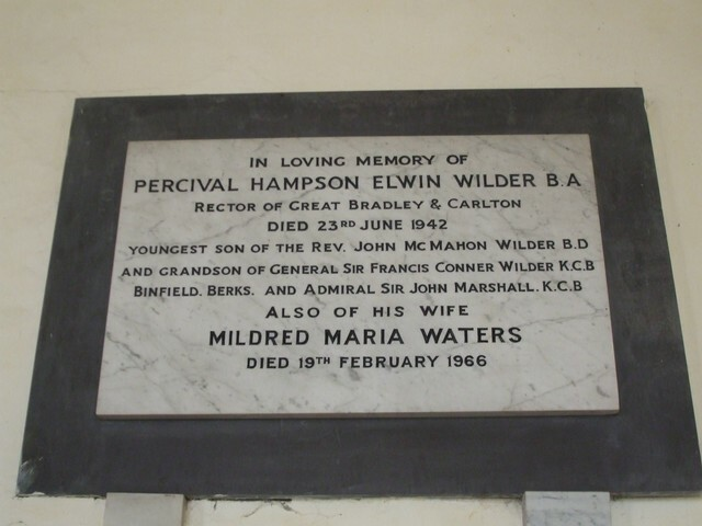 P.H.E.Wilder made Rector of St Mary's