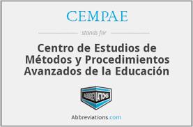 Centro para el Estudio de Medios y Procedimientos Avanzados de la Educación (CEMPAE)