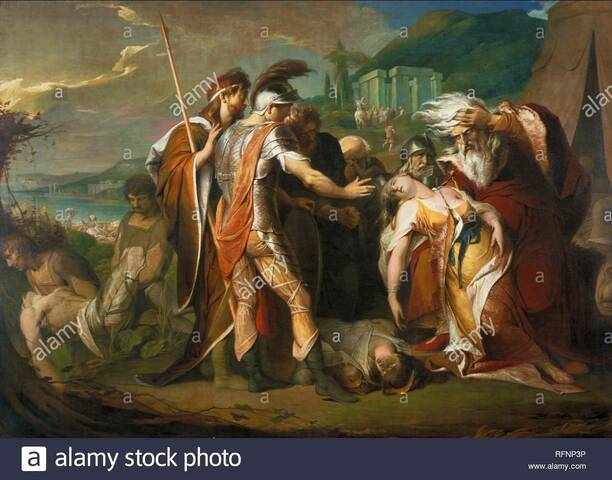 """""""El Rey Lear llorando sobre el cuerpo de Cordelia"""" de JAMES BARRY"""
