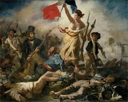 """""""La libertad guiando al pueblo francés"""" DELACROIX"""