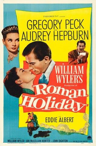"""""""Roman Holiday"""". (Vacaciones en Roma) por William Wyler."""