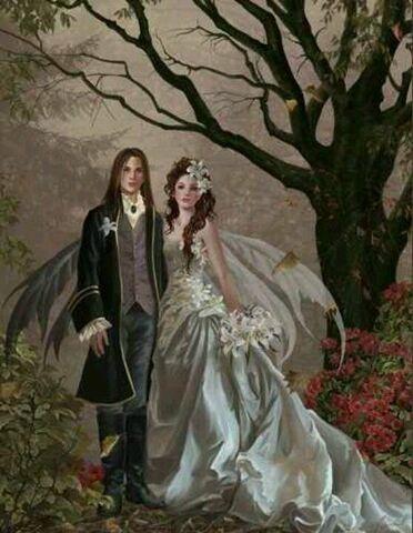 The wedding of goddess of Spirits &  god of Judgement
