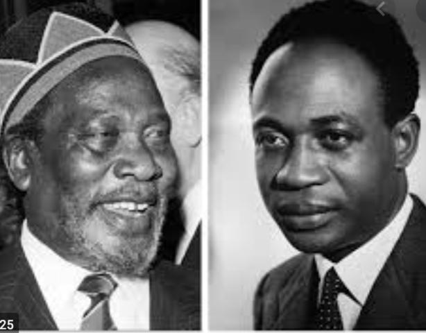 Ghana's Kwame Nkrumah and Kenya's Jomo Kenyatta
