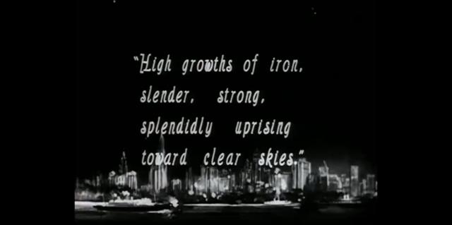 """Video sobre New York: """"Manhatta"""" dirigida por Paul Strand."""