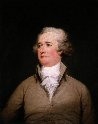 Alexander Hamilton. (1757-1804). - Padre fundador y 1º secretario de estado.