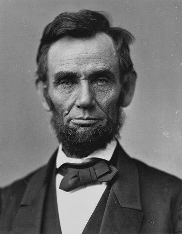 Abraham Lincoln. (1809-1865).- 16.° presidente de los Estados Unidos.