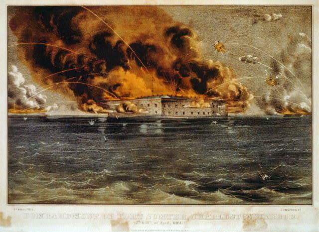 Batalla de Fort Sumter.