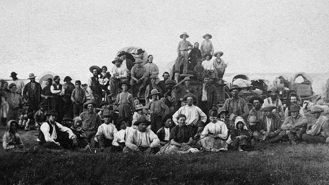 Mormons, led by Brigham Young, undertake trek to Utah.