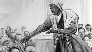 Sojourner Truth delivers her famous speech Ain't I a Woman?.