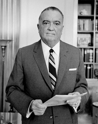 John Edgar Hoover. (1895-1972).