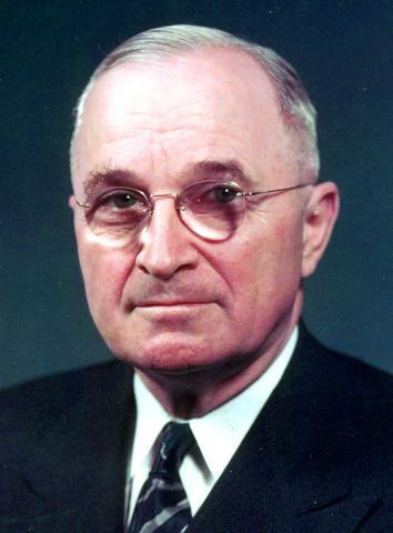 Harry S. Truman. (1884-1972). - 33º Presidente de los Estados Unidos.