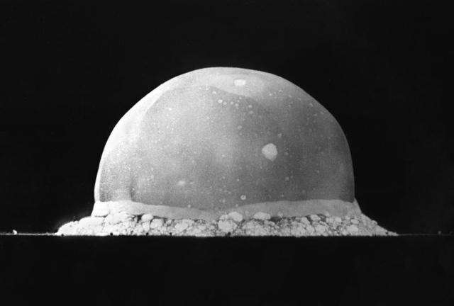 "Prueba de bomba atómica ""Trinity""."